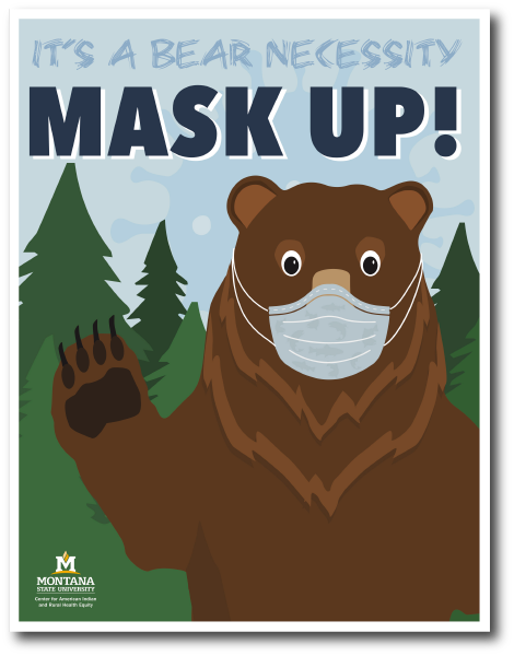 An image of the 'Mask Up' Poster