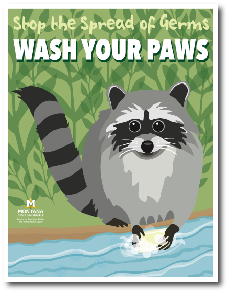 An image of the 'Wash Your Paws' poster