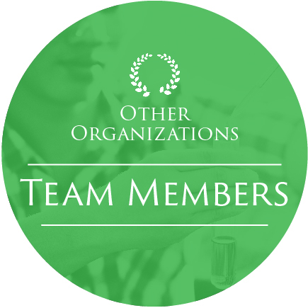 icon of a green circle with a biologist in the background and the words 'Other Organizations' and 'Team Members'