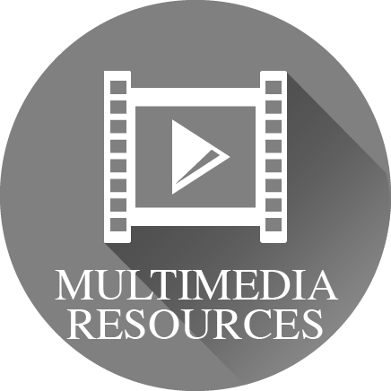 The words 'Multimedia Resources' adn an icon of a film strip