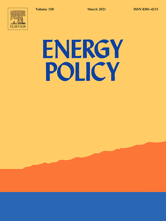 Cover of the Energy Policy journal