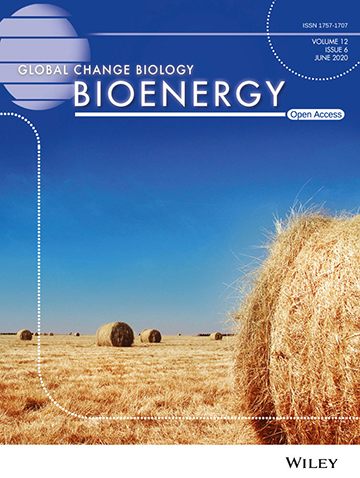 image of the cover of 'Global Change Biology Bioenergy' journal
