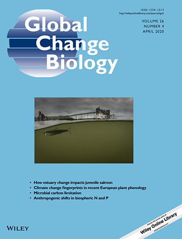 Image of the cover of Global Change Biology