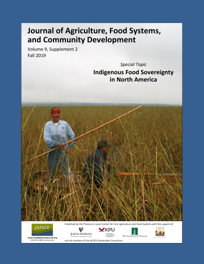 Cover image of the Journal of Agriculture, Food Systems, and Community Development