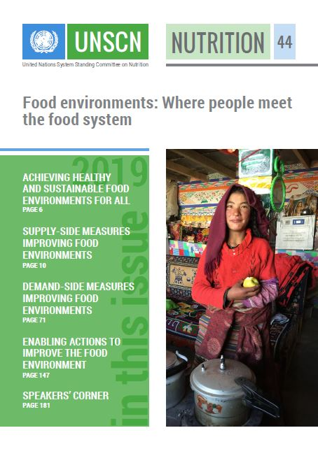 image of the cover of UNSCN Food Environments