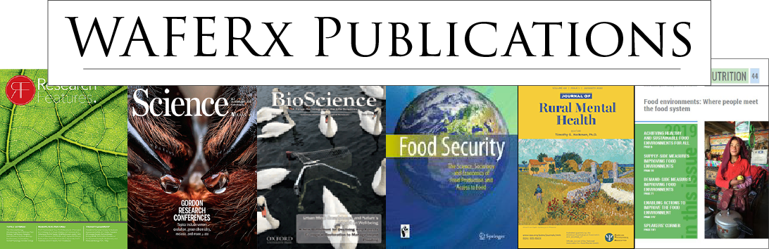 "The words ""WAFERx Publications"" and images of several of the journals WAFERx research has been published in"